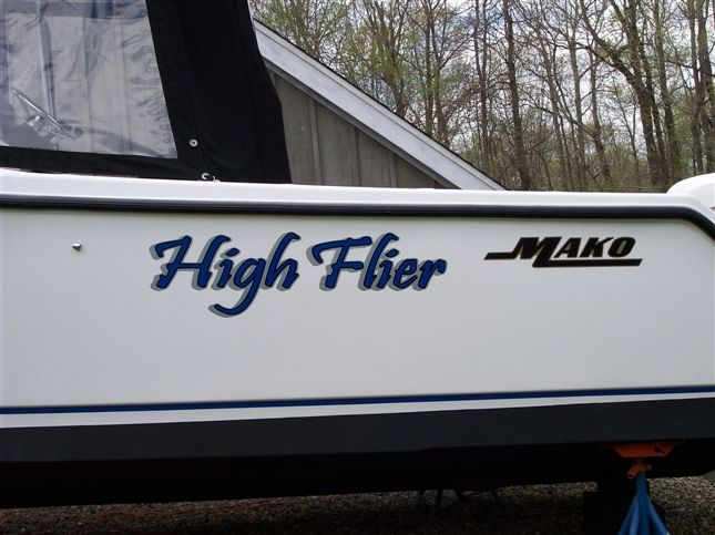 our work boat lettering